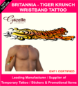 Britania Tiger  Krunch -  Armband Temporary Tattoo