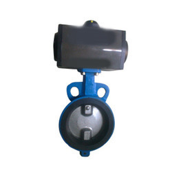 Pneumatic Rotary Actuator Wafer Type Butterfly Valve