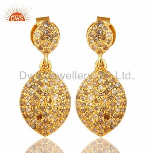 18k Gold Diamond Earring Jewelry