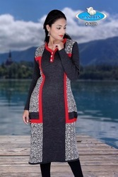 Latest Designer Woolen Kurtis