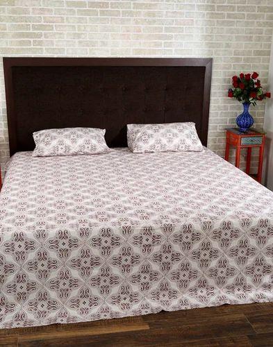 Brown Paisley Hand Block Printed Bed Sheets