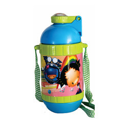 Rainbow Push Button Water Bottle