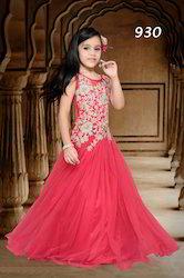 Girls Net Fancy Designer Gowns