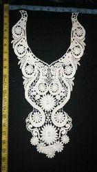 White Color Cotton Material Ladies Lace Neck Collar
