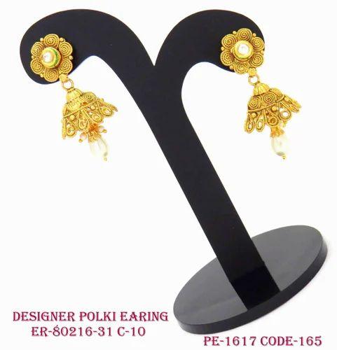 Designer Pearl Drop Jhumka