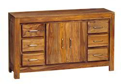 Wooden Chest With Drawers