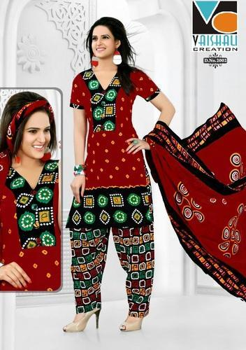 Printed Pure Cotton Salwar Suits