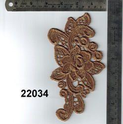 High Quality Applique Gold Zari Work Patch