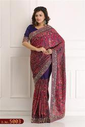 Hand Woven Saree With Work