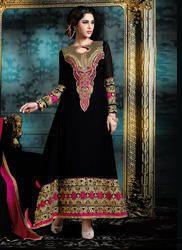 Ladies Black Designer Anarkali Suit
