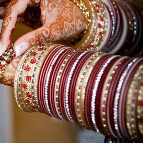 Active Chura Bangle Set 2.8 Red Maroon Rhinstone Bridal Dulhan Punjabi Wedding Party Bridal & Wedding Party Jewelry