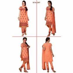 Orange Embroidered Suit