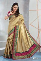 Fancy Designer Poly Tussar Saree