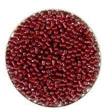 ABS Dark Red Plastic Granules