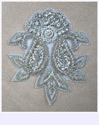 Hand Embroidered Zardosi Diamond Motif