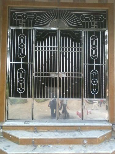 Stainless Steel Doors Stainless Steel Mandir Main Gate