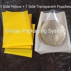 Yellow Polyester Laminated Pouches