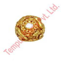 Polki Diamond 22kt Gold Ring