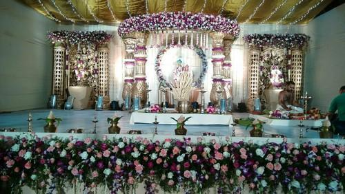 Designer Wedding Stage Decoration Hindu Wedding Mandap Decorations