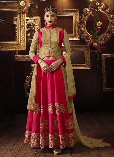 Embroidered Anarkali Dress Suits