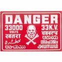 Vitreous Enameled Danger Plates
