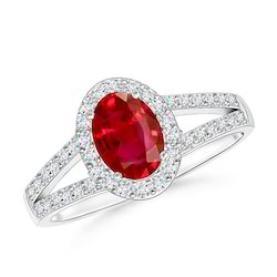 6 Carat Premium Ruby Ring In Sterling Silver With American