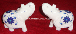white marble elephants