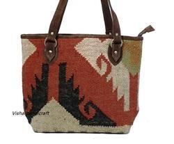 Indian Wool Jute Ladies Handbag