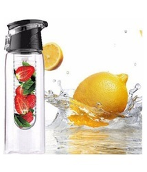 Fruit Infuser Water Bottle Sipper - Black