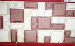 Red and White sandstone wall Mosaic tiles / wall cladding tiles