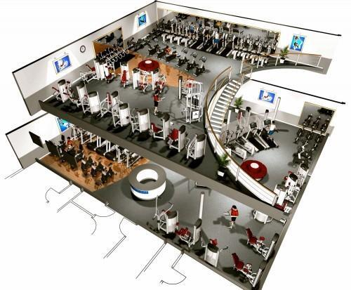 physical fitness center facility layout