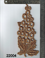 Applique Gold Zari Work Patch