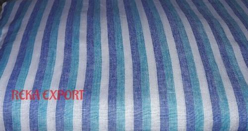 Linen White and Blue Stripe