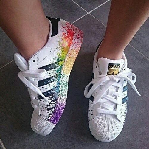 adidas superstar with color splash
