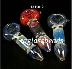 Silver Fumed Glass Smoking Pipe Clp