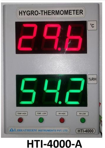 Digital Hygro Thermometer with 4 Inch with Alarm Indication