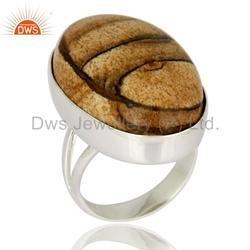 Jasper Gemstone 925 Silver Rings