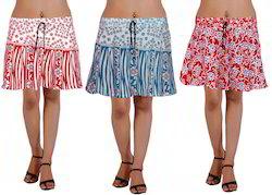 Block Print Short Skirt