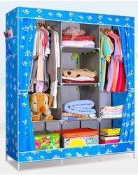 Folding Wardrobe - 126 CM - Blue Paw