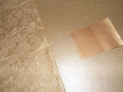 Metallic Golden Floral Embossed Handmade Papers For Weddings