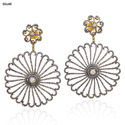New Pave Diamond 18k Gold Dangle Earring
