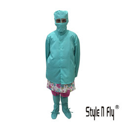 Apron Female With Shoes Cover, Female Cap & Mask