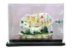 Vaah Polyresin Cow with Fiber Promotion Box for Donation