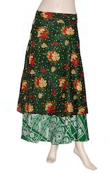 Multicolor Wrap Skirt For Girls