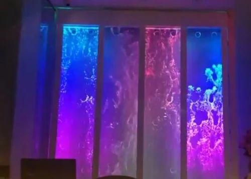 Indoor Bubble Fountain Water Panel & Plastic fish tank ...