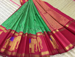 Silk Cotton Kuppadam Silk Border Jacquard