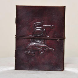 Junkyard Leather Journal Diary With Handmade Paper- Warrior