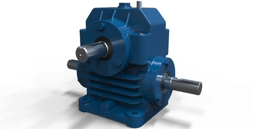 Horizontal Worm Reduction Gearbox - Dual Shaft