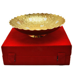 Brass Silver Decorative Platter