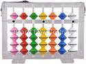 7 Rods Multi Color Teacher Abacus with Transparent Frame